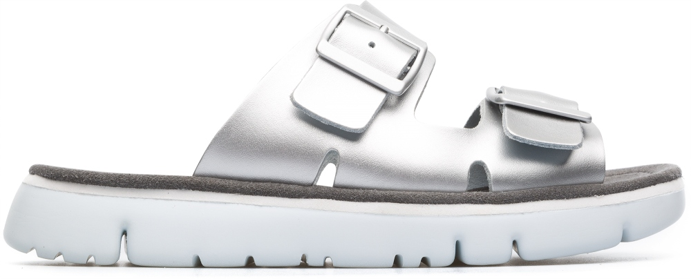 Camper Oruga Grey Flat Shoes Women K200633-002