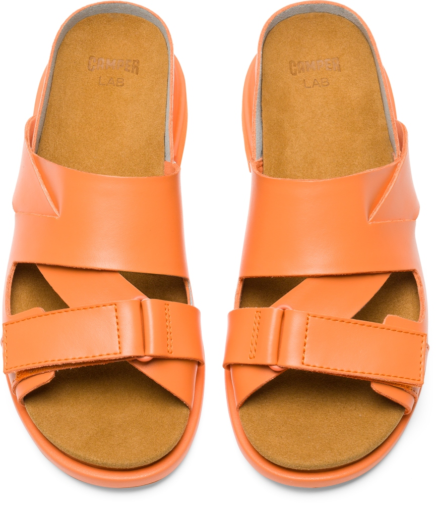 Camper Eda Orange Flat Shoes Women K200637-001