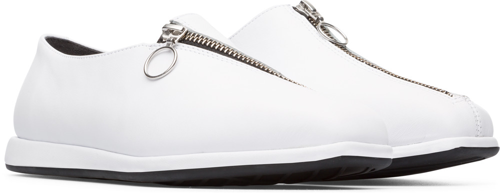 Camper Twins White Flat Shoes Women K200657-001