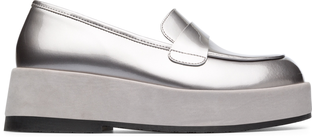 Camper Wilma Grey Formal Shoes Women K200660-002