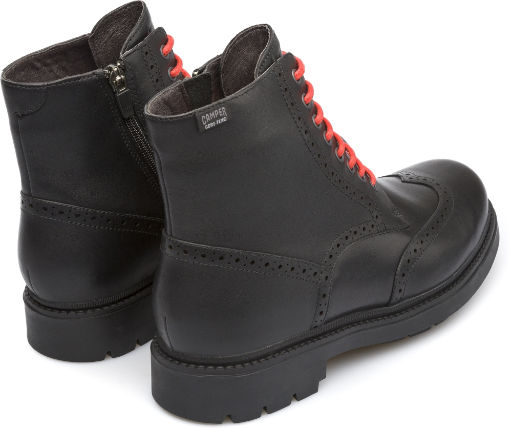 Camper Hardwood Black Ankle Boots Men K300029-001