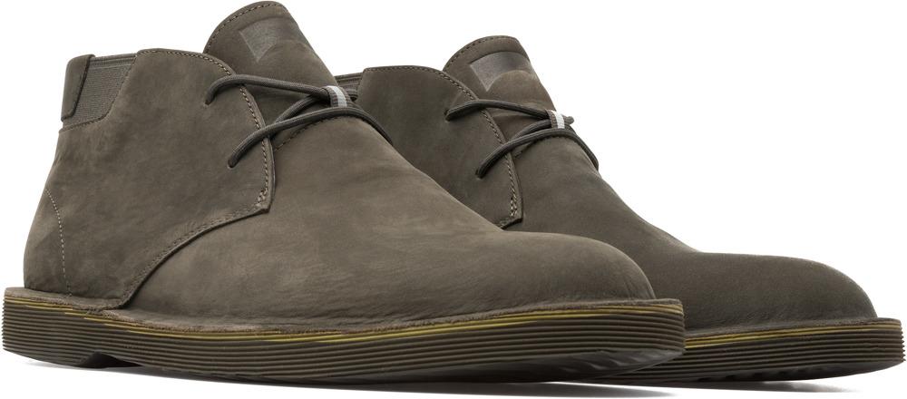 Camper Morrys Green Ankle Boots Men K300035-022