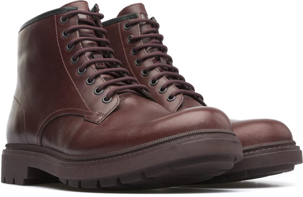 Camper Hardwood Red Ankle boots Men K300090-001