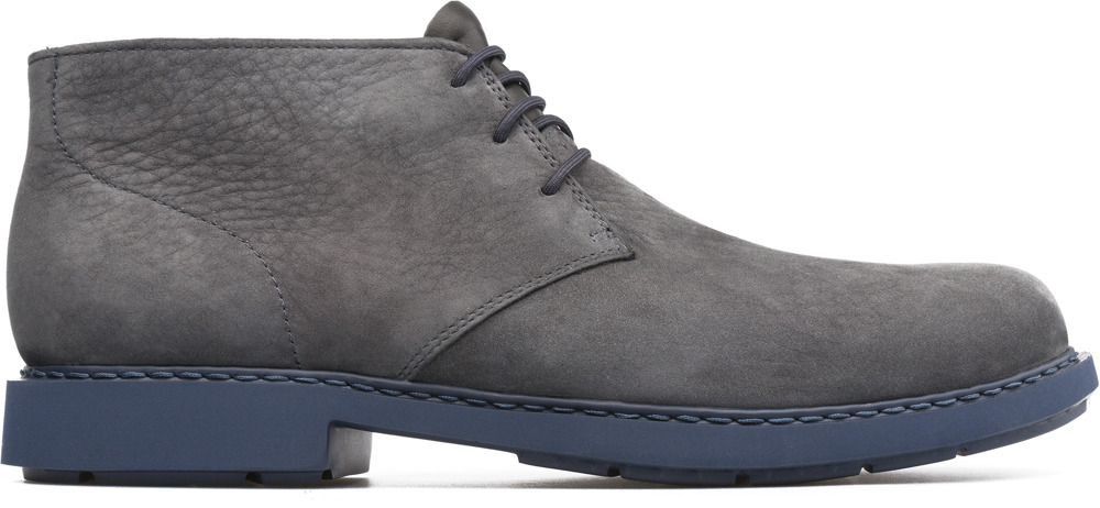 Camper Neuman Grey Ankle Boots Men K300157-001