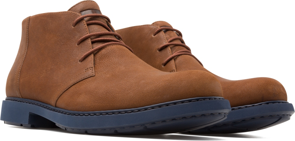 Camper Neuman Brown Ankle Boots Men K300171-001