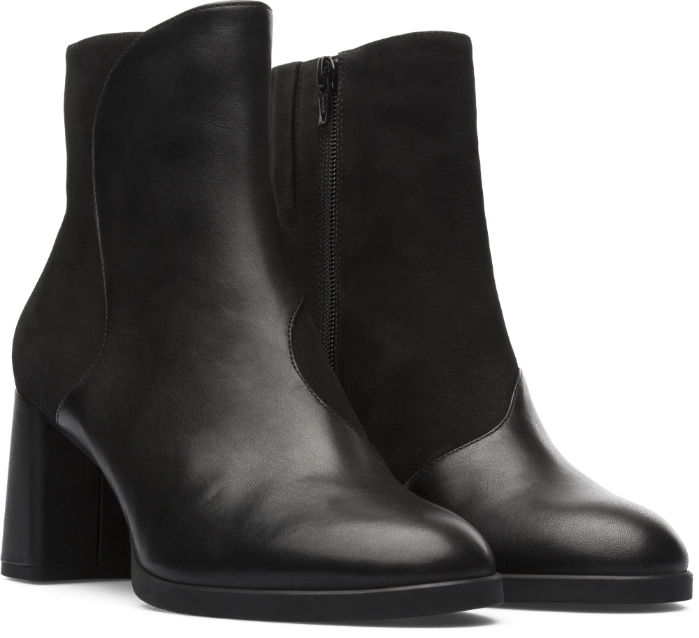 Camper Twins Black Ankle Boots Women K400202-001
