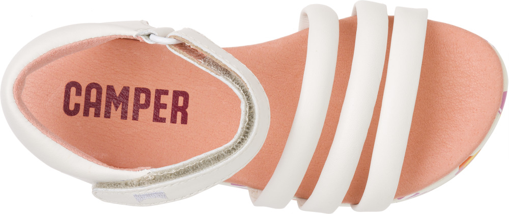 Camper Pinya White Sandals Kids K800053-001
