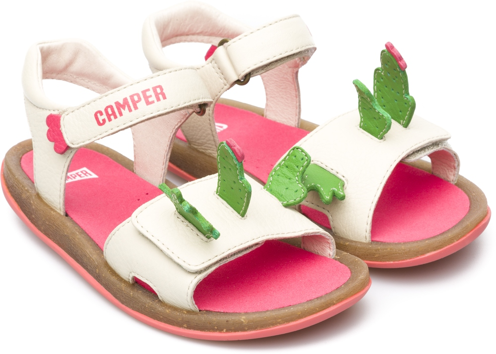 Camper Twins Beige Sandals Kids K800076-001