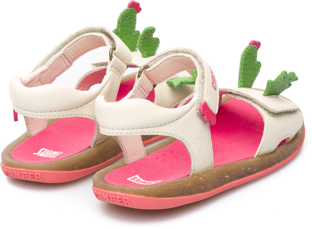 Camper Twins Beżowy Sandały Dzieci K800076-001