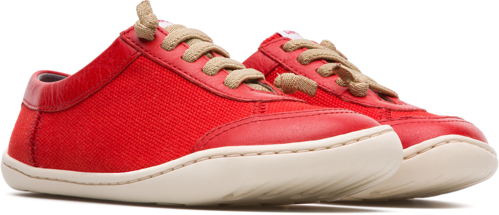 Camper Peu Red Lace-Up Kids K800170-003