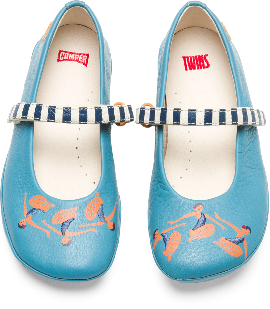 Camper Twins Blue Ballerinas Kids K800176-001