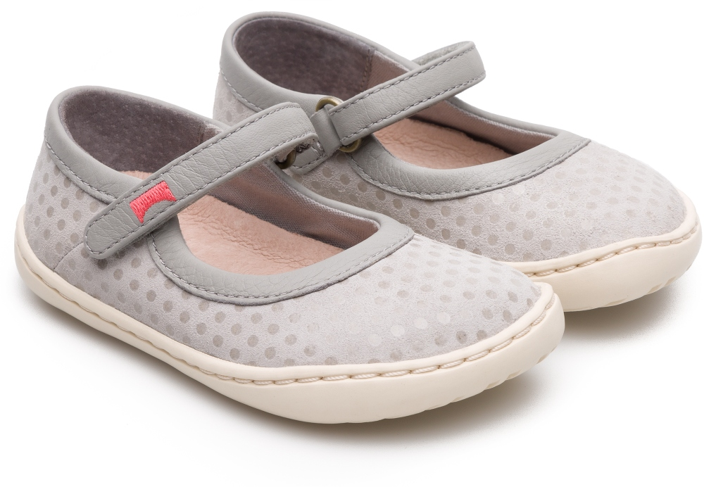 Camper Peu Grey Ballerinas Kids K800194-002