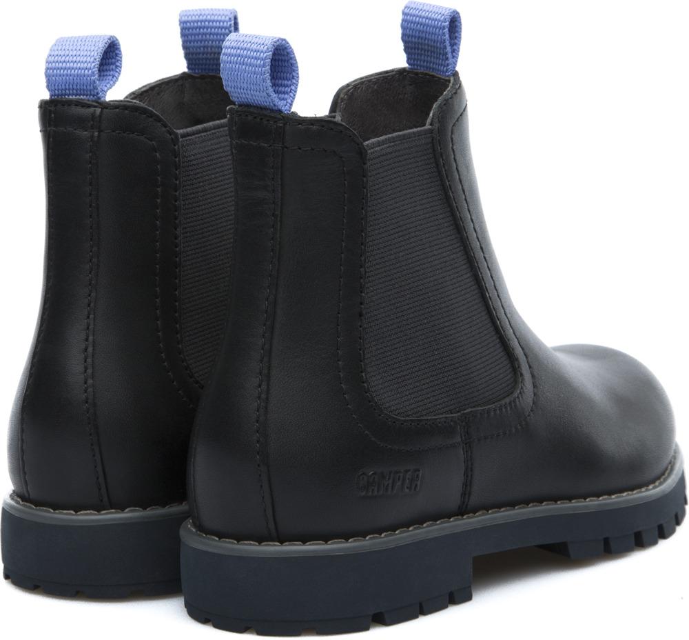 Camper Compas Black Ankle Boots Kids K900005-004