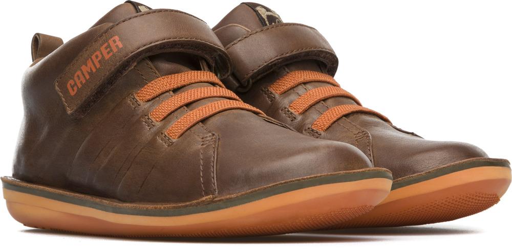 Camper Beetle  Brown Boots Kids K900051-001