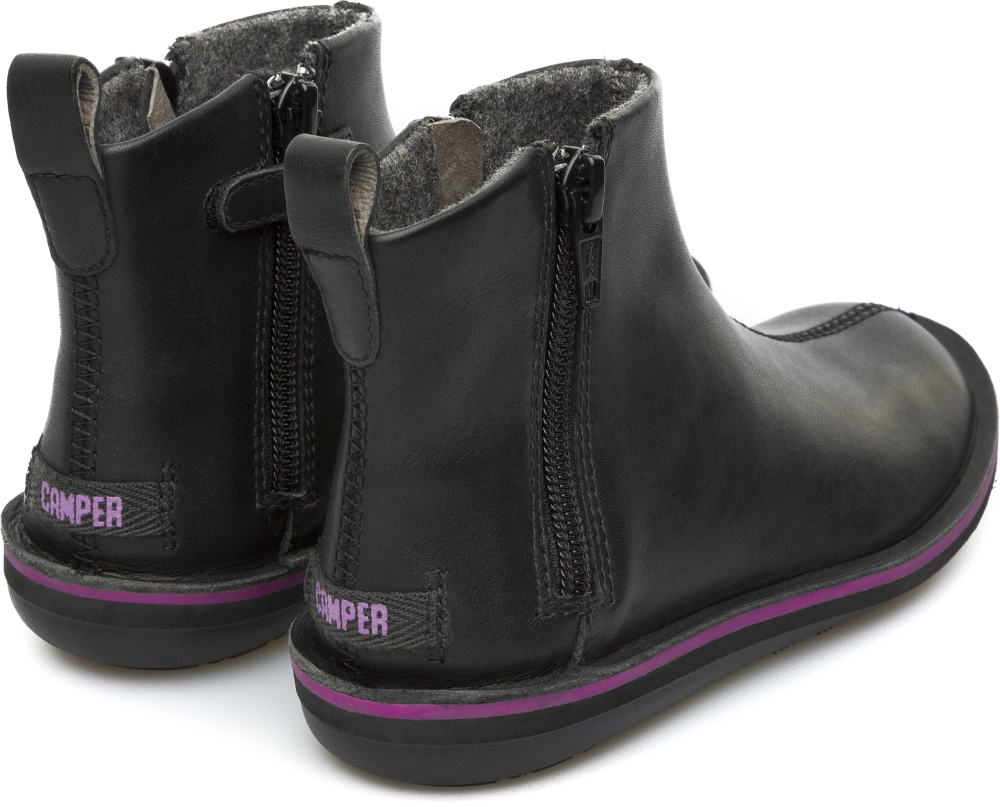 Camper Beetle  Black Boots Kids K900088-001