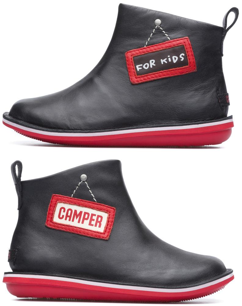 Camper Twins Black Ankle Boots Kids K900091-001